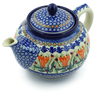 40 oz Stoneware Tea or Coffee Pot - Polmedia Polish Pottery H2437B