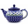 40 oz Stoneware Tea or Coffee Pot - Polmedia Polish Pottery H2776B