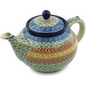 40 oz Stoneware Tea or Coffee Pot - Polmedia Polish Pottery H3068A