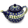 40 oz Stoneware Tea or Coffee Pot - Polmedia Polish Pottery H4263D
