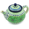 40 oz Stoneware Tea or Coffee Pot - Polmedia Polish Pottery H4787H