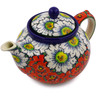 40 oz Stoneware Tea or Coffee Pot - Polmedia Polish Pottery H8418I