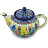 40 oz Stoneware Tea or Coffee Pot - Polmedia Polish Pottery H8567G