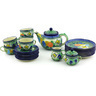 40 oz Stoneware Tea or Coffee Set for Six - Polmedia Polish Pottery H5234G