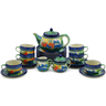 40 oz Stoneware Tea or Coffee Set for Six - Polmedia Polish Pottery H5573G
