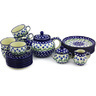 40 oz Stoneware Tea or Coffee Set for Six - Polmedia Polish Pottery H5815G