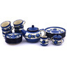 40 oz Stoneware Tea or Coffee Set for Six - Polmedia Polish Pottery H6263G