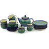 40 oz Stoneware Tea or Coffee Set for Six - Polmedia Polish Pottery H6771G