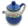 46 oz Stoneware Tea or Coffee Pot - Polmedia Polish Pottery H0036I