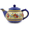 47 oz Stoneware Tea or Coffee Pot - Polmedia Polish Pottery H5178F