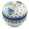 5-inch Stoneware Apple Shaped Jar - Polmedia Polish Pottery H0664I