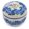 5-inch Stoneware Apple Shaped Jar - Polmedia Polish Pottery H1097J