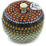 5-inch Stoneware Apple Shaped Jar - Polmedia Polish Pottery H2408H