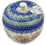 5-inch Stoneware Apple Shaped Jar - Polmedia Polish Pottery H2732E