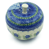 5-inch Stoneware Apple Shaped Jar - Polmedia Polish Pottery H2849C