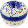 5-inch Stoneware Apple Shaped Jar - Polmedia Polish Pottery H3749E
