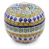 5-inch Stoneware Apple Shaped Jar - Polmedia Polish Pottery H5336B