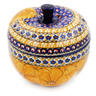 5-inch Stoneware Apple Shaped Jar - Polmedia Polish Pottery H5638J