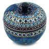 5-inch Stoneware Apple Shaped Jar - Polmedia Polish Pottery H6879H