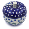 5-inch Stoneware Apple Shaped Jar - Polmedia Polish Pottery H7147B