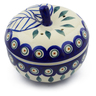 5-inch Stoneware Apple Shaped Jar - Polmedia Polish Pottery H7188E