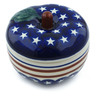 5-inch Stoneware Apple Shaped Jar - Polmedia Polish Pottery H7615H