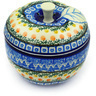 5-inch Stoneware Apple Shaped Jar - Polmedia Polish Pottery H7888D