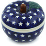 5-inch Stoneware Apple Shaped Jar - Polmedia Polish Pottery H8187G