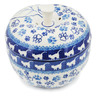 5-inch Stoneware Apple Shaped Jar - Polmedia Polish Pottery H8407K