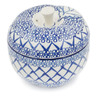 5-inch Stoneware Apple Shaped Jar - Polmedia Polish Pottery H8449K