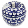 5-inch Stoneware Apple Shaped Jar - Polmedia Polish Pottery H8480K