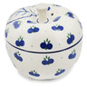 5-inch Stoneware Apple Shaped Jar - Polmedia Polish Pottery H8906K