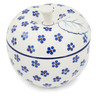 5-inch Stoneware Apple Shaped Jar - Polmedia Polish Pottery H8969K