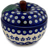 5-inch Stoneware Apple Shaped Jar - Polmedia Polish Pottery H9379C