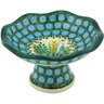 5-inch Stoneware Bowl with Pedestal - Polmedia Polish Pottery H3257G
