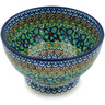 5-inch Stoneware Bowl with Pedestal - Polmedia Polish Pottery H4089A