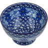 5-inch Stoneware Bowl with Pedestal - Polmedia Polish Pottery H4108A
