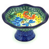5-inch Stoneware Bowl with Pedestal - Polmedia Polish Pottery H4599G