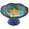 5-inch Stoneware Bowl with Pedestal - Polmedia Polish Pottery H5362G