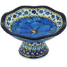 5-inch Stoneware Bowl with Pedestal - Polmedia Polish Pottery H5447G