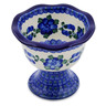 5-inch Stoneware Bowl with Pedestal - Polmedia Polish Pottery H6887G