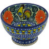 5-inch Stoneware Bowl with Pedestal - Polmedia Polish Pottery H8440G