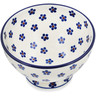 5-inch Stoneware Bowl with Pedestal - Polmedia Polish Pottery H9082K