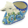 5-inch Stoneware Bunny Shaped Jar - Polmedia Polish Pottery H1270H