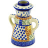 5-inch Stoneware Candle Holder - Polmedia Polish Pottery H1313D