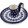5-inch Stoneware Candle Holder - Polmedia Polish Pottery H8788B
