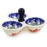 5-inch Stoneware Condiment Server - Polmedia Polish Pottery H0805K