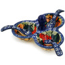 5-inch Stoneware Condiment Server with Spoons - Polmedia Polish Pottery H9673H