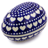 5-inch Stoneware Egg Shaped Jar - Polmedia Polish Pottery H6365B