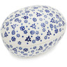 5-inch Stoneware Egg Shaped Jar - Polmedia Polish Pottery H8611K